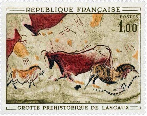 Le dernier timbre de Lascaux à 1 franc avait été édité en 1968...