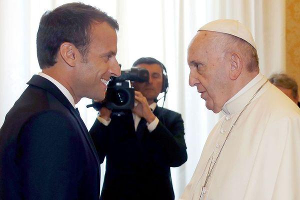 E.Macron en visite pour la première fois au Vatican, 26 juin 2018