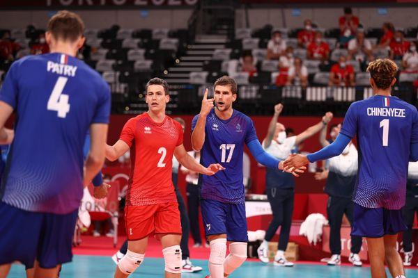 Trévor Clévenot lors des quarts de finale du tournoi olympique face à la Pologne