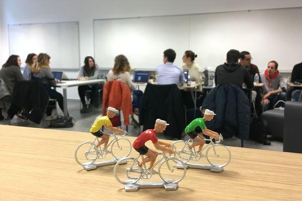 Le groupe d'étudiants participant au projet Tour de France dans le cadre du Hyblab 2018 à Nantes