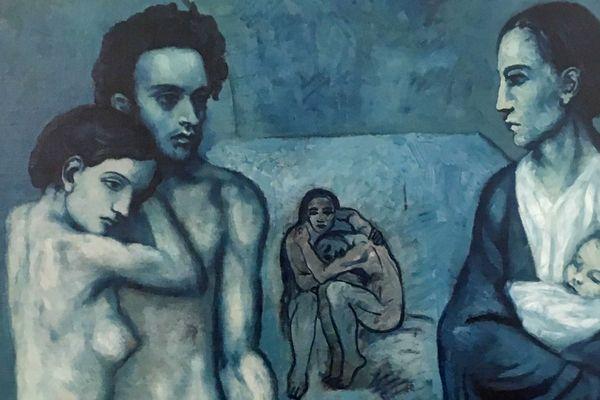 """Pablo Picasso, détail de la """"La Vie"""", 1903, The Cleveland Museum of Art"""