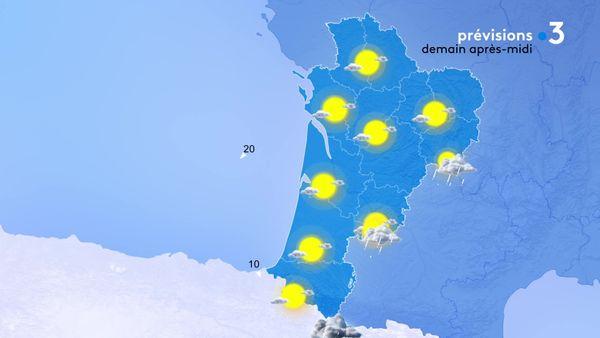 Du soleil sur toute la Nouvelle-Aquitaine mais avec quelques pluies à l'est...