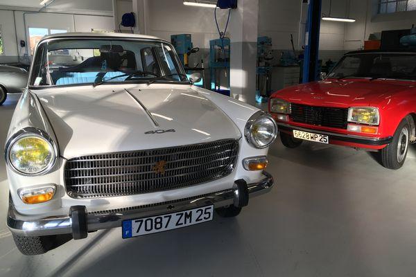 Atelier vintage du musée de l'aventure Peugeot.