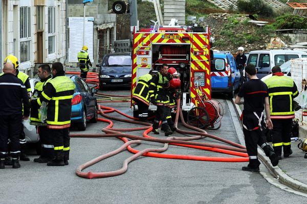 Intervention de sapeurs-pompiers, image d'illustration.