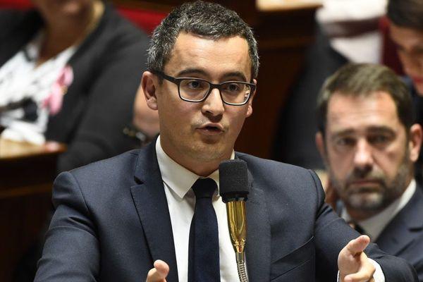 Le ministre des Comptes publics Gérald Darmanin lors de la séance de questions au gouvernement ce mardi 10 octobre.