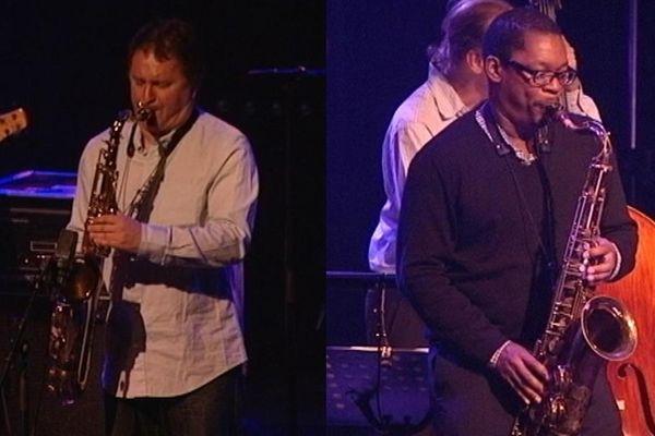 Sylvain Beuf et Ravi Coltrane étaient les tête d'affiche de la soirée jazz mardi soir au théâtre municipal de Coutances