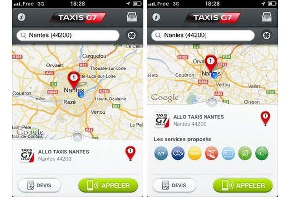 Une appli pour réserver un taxi en un clic