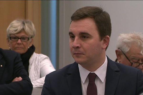 Le maire de Ouistreham, Romain Bail, au tribunal correctionnel de Caen ce jeudi 15 février