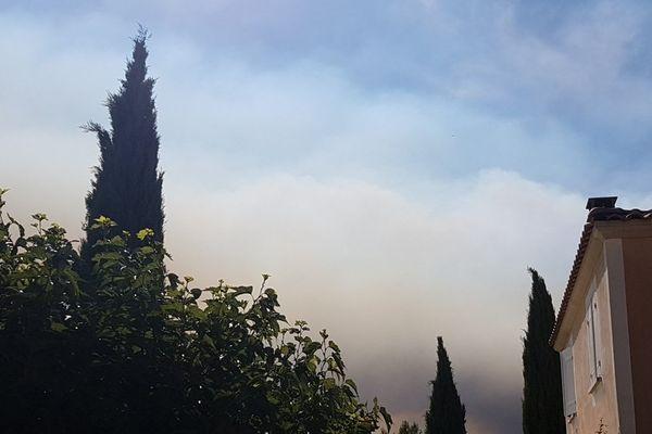 L'incendie vu depuis Aix en Provence
