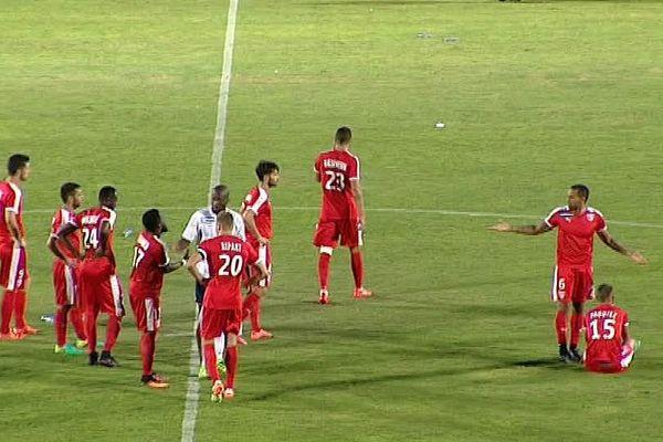 Nîmes - les Crocos éliminés de la Coupe de la Ligue par Châteauroux, dès le premier tour, aux tirs au but - 9 août 2016.