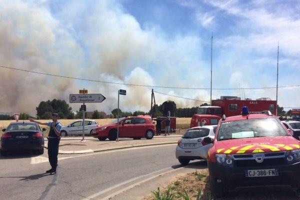 200 pompiers sont mobilisés .