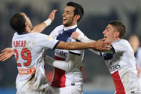 Javier Pastore, auteur d'un but et de deux passes décisives dans ce quart de finale de la Coupe de la Ligue, a fait un match plein.