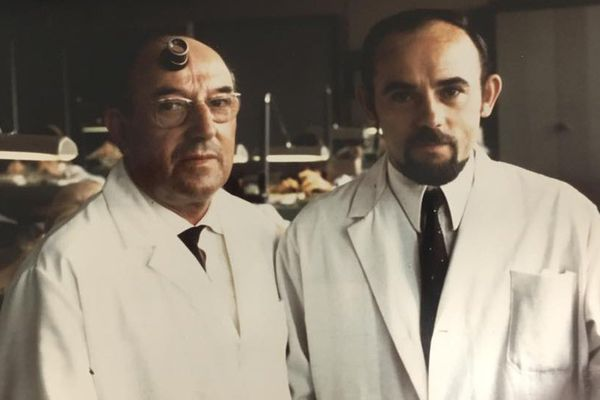Marcel Humbert-Droz, ici à gauche