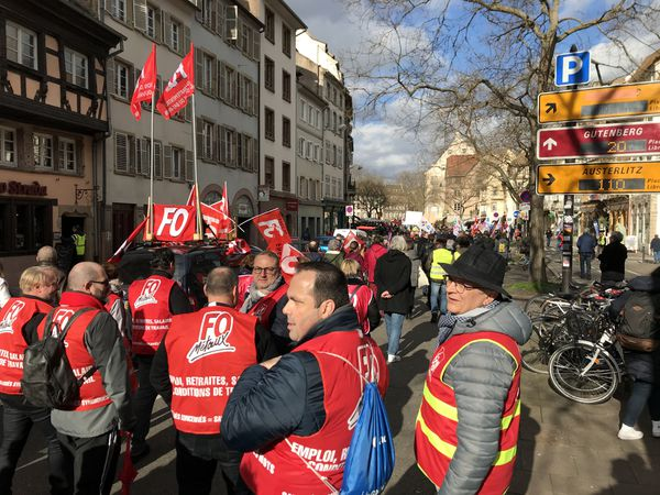 Environ 1000 manifestants ont défilé à Strasbourg le 20 février