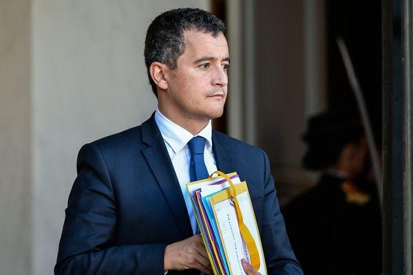 Gérald Darmanin à la sortie du conseil des ministres le 14 septembre 2017.
