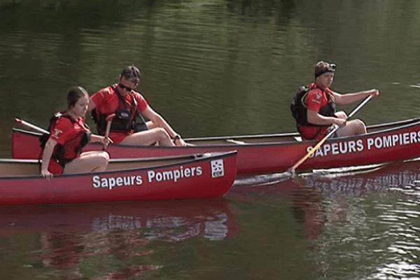 Les pompiers d'Argentat également sur l'eau pour surveiller kayakistes et baigneurs