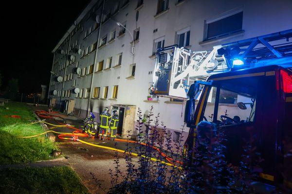 Un feu de cave s'est déclaré le soir du 31 août au 7 rue de Bruxelles dans le quartier des Résidences à Belfort.