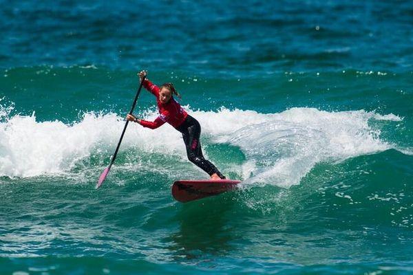 Caroline Angibaud vainqueur de la Coupe de France de Stand Up Paddle