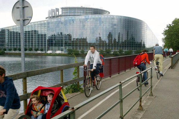 Cyclistes à Strasbourg.