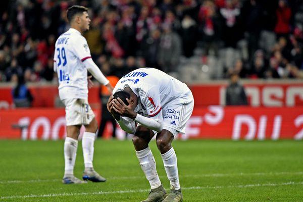 Le défenseur central Marcelo  expulsé en début de seconde période face à Lille le 1er novembre 2020.