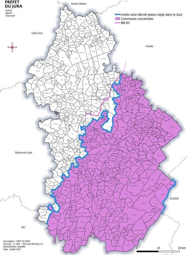 Près de 250 communes du Jura et un tronçon de la RN83 font partie de ce plan montagne.