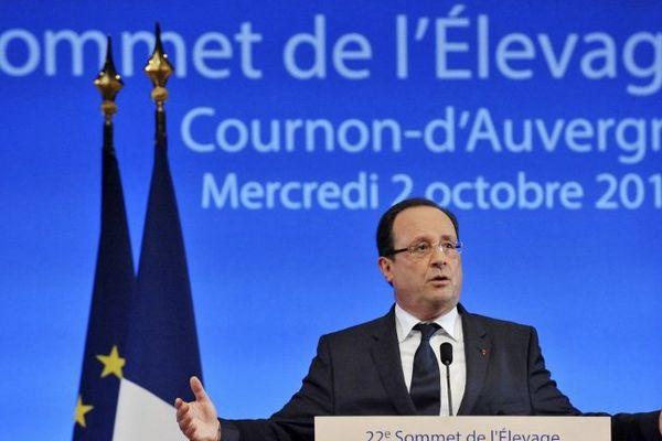 François Hollande a tenté de convaincre les agriculteurs.