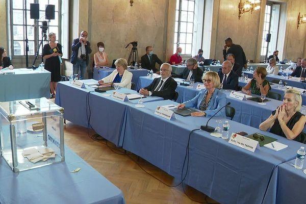 Le nouveau conseil municipal de Dijon élu le 28 juin 2020 a été installé samedi 4 juillet 2020