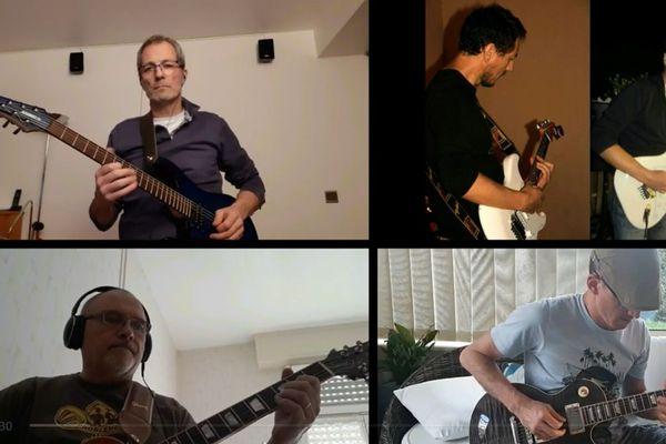 Emmanuel Charpentier et ses amis musiciens ont fait une reprise du groupe Téléphone, grâce à leurs téléphones portables.