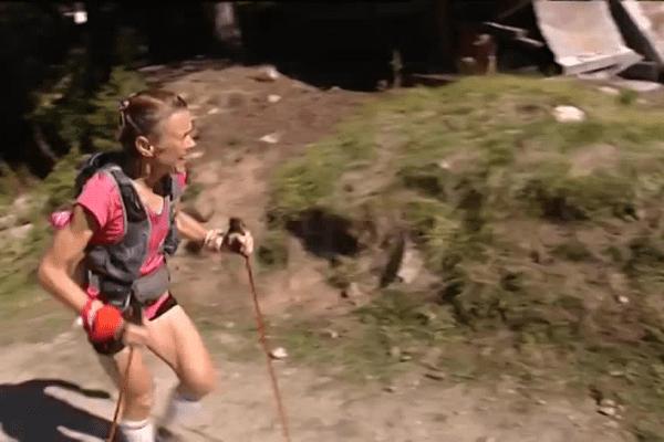 Nathalie Mauclair, originaire de la Sarthe, victorieuse de l'Ultra-Trail du Mont-Blanc