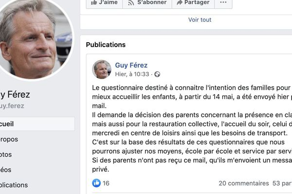 Guy Férez a confirmé sur sa page Facebook l'envoi du questionnaire par mail