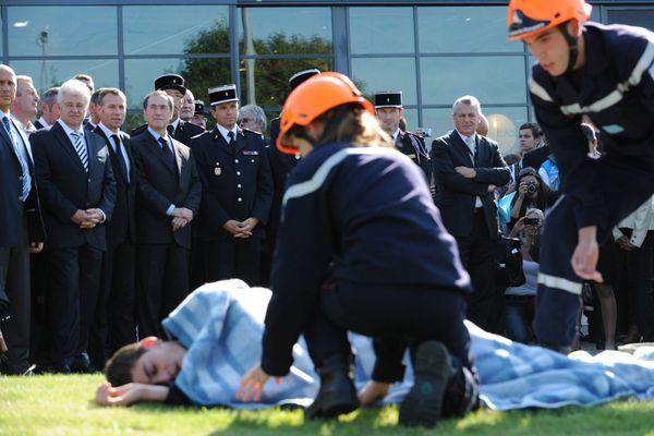 Pour le 118ème congrès national des pompiers à Nantes, les démonstrations des gestes de premiers secours étaient également au programme.
