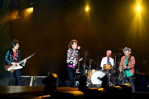 Les Rolling Stones lors de leur concert de 2018 au Stade Vélodrome à Marseille.