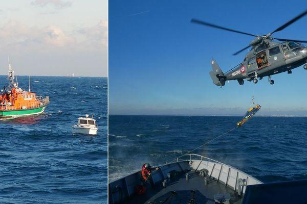 10 migrants ont été secourus au large de la Côte d'Opale, alors qu'il se trouvaient sur un petit bateau de pêche-promenade. Deux d'entre-eux ont été héliportés vers le centre hospitalier de Boulogne.