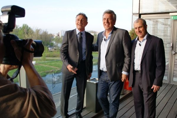 Séance bonne humeur pour Guy Novès, Claude Onesta et Alain Casanova