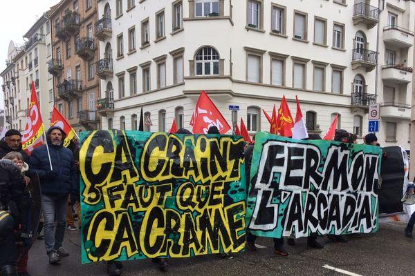 En 2018, plus de 400 personnes demandaient la fermeture de l'Arcadia, l'ancien local du Bastion social à Strasbourg.