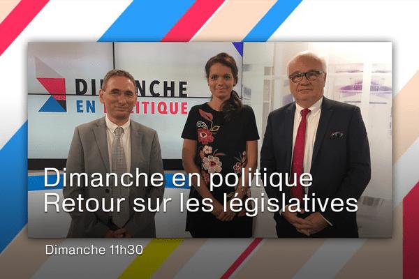 Une émission présentée par Marie Morin. A gauche, Mathias Bernard et à droite Jean-Yves Vif.