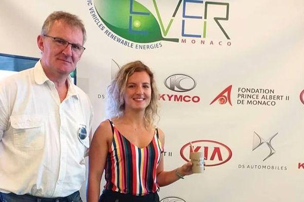 Les Dunkerquois Camille Deligne et son père Eddy ont fini finalistes à un concours d'innovation à Monaco, METHA Europe, en mai 2019.