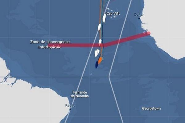5 skippers à moins de 3 milles les uns des autres en tête du Vendée Globe le 20 11 2012