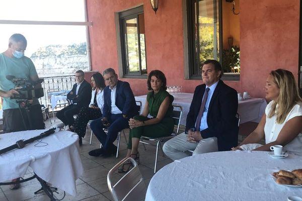 Conférence de presse de la liste LR aux sénatoriales dans les Alpes-maritimes ce 3 septembre.