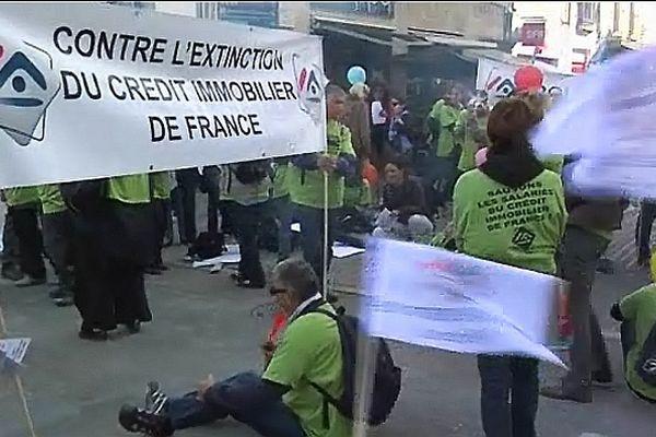 Les salariés du Crédit Immobilier de France avaient manifesté à Dijon le 20 septembre 2012