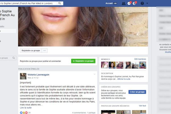 Tribute to Sophie Lionnet (French Au Pair killed in London) - FACEBOOK
