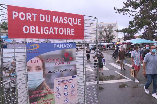 Masques obligatoires au marché de Panazol