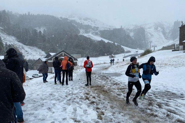 Le trail d'été du Sancy s'est transformé en trail d'hiver.