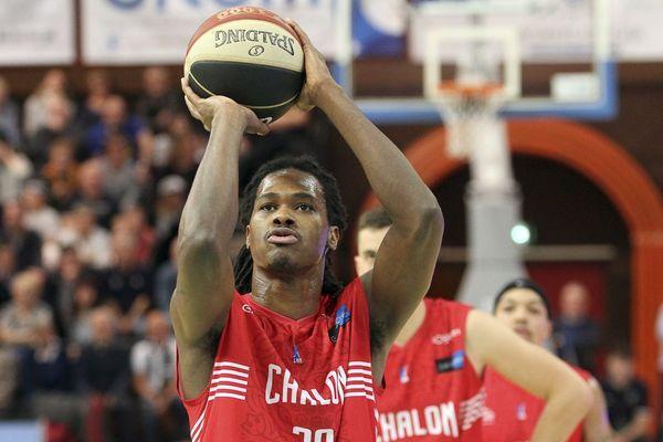 Le basketteur de l'Elan Chalon Mickaël Gelabale
