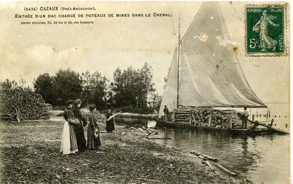 Le canal des Landes a permis le transport de bois, de marchandises, au 19è.