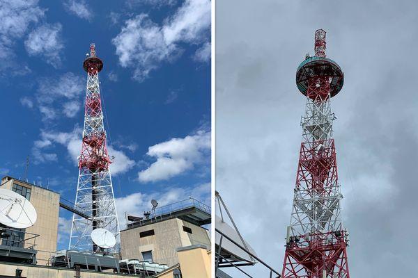 La partie supérieure de l'antenne de France 3 Alsace a été démontée pour rentrer dans les nouvelles normes européennes.