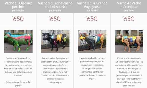 4 des 6 vaches mises en vente