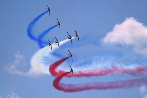 La Patrouille de France est présente ce week-end au meeting aérien de Melun-Villaroche.