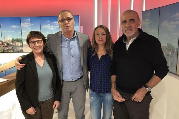 de gauche à droite Marie-claude Noël, Pascal Cagnato, Elisabeth Chaumont et Philippe Barbedienne