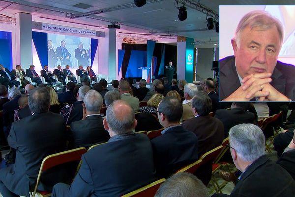 Gérard Larcher à Rouen le samedi 7 décembre 2019